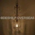 Deshilp Overseas Clear Long Stick Crystal Hanging Light