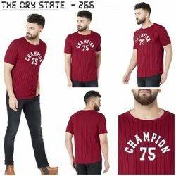 Men Half Sleeve Red T-Shirt