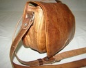 Genuine Leather Flap Saddle Bag