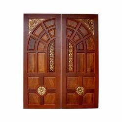 60x80 Inch Teak Wood Double Door