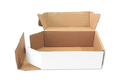 White Packaging Flat Corrugated Box 10 X 7 X 3.5