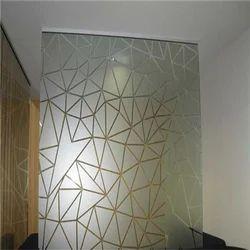 Acid Etched Glass Partition