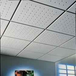 Mineral Fiber Ceiling Tiles, Grid False Ceiling, Office False Ceiling, Sound Proof False Ceiling,