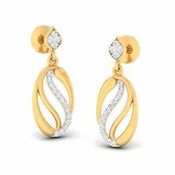 Stylish Designed Diamond Gold Earring