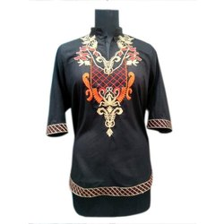 Ladies Party Wear Embroidered Kurti, Packaging Type: Packet