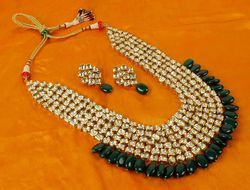 Bollywood Meena Kundan Jewellery Necklace Earrings Maangtikka Sets