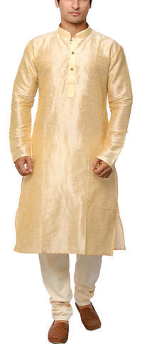 acd93ca3a4 Golden Long Men's Gold Banarsi Silk Kurta Pyjama, Rs 400 /piece | ID ...