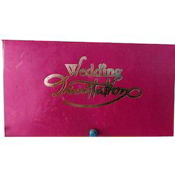 Pink Cardboard Wedding Card