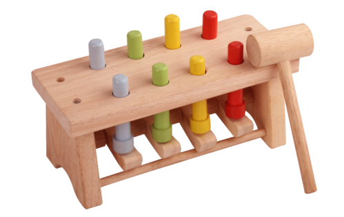 Wooden Hammer Toys With Pegs Deluxe