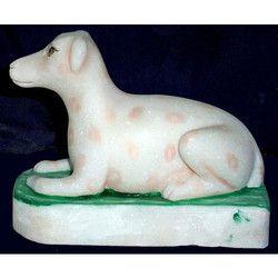 Marble Dog Figure