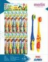 Multicolor Pp + Tpe Merlin Jini & Jumbo Toothbrush For Kids, For Cleaning Teeth, Packaging Size: 12