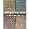 Foil Print Manipuri Silk Fabric