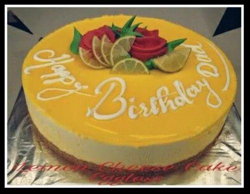 Incredible Lemon Cheese Cake At Rs 1100 Cake Ics Retail Personalised Birthday Cards Petedlily Jamesorg