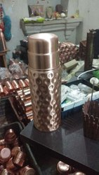 nayra Standard Copper bottle with glass, Design/Pattern: Regular, Capacity: 1.5 Litre