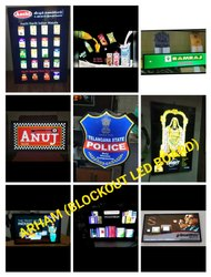 LED Blockout Board, Letter Material: Acrylic Direct Uv Print, Size: Sqft