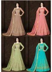 Thankar Net Designer Heavy Wedding Season Anarkali Or Gown, Dry clean