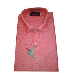 Mens Full Sleeves Printed Formal Shirt, Size: M