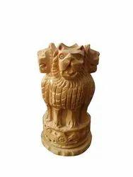 Wooden Handmade Ashoka Pen Holder For Corporate Gifting