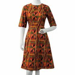 Multicolor Printed African Skater Dress ebd76a656