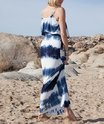 Adjustable Straps Tie Dye Long Maxi Dress