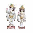 3 Feet White Marble Radha Krishna Statue