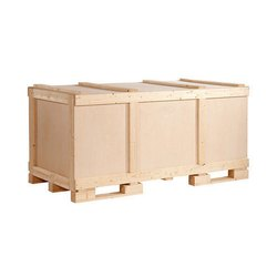 Rectangle Hard Wood Industrial Wooden Packaging Boxes, Box Capacity: 1-200 Kg, 5-15 mm