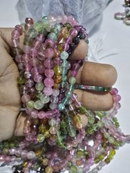 6mm Multi Tourmaline Faceted Beads for Jewelry