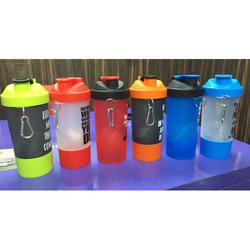 Protein Shake Plastic Bottle, Flip Top, Capacity: 500ml