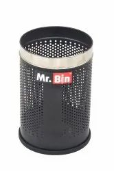 Black Perforated Bin
