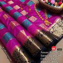 Tussar Silk with Contrast Border Saree