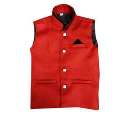 Cotton Party Wear Kids Nehru Jacket