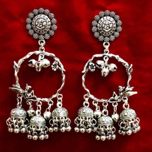 D9 Creation German Silver Oxidized Earring Sets For Women