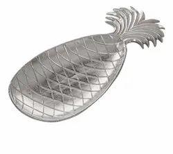 Aluminum Pineapple Shape Decorative Tray