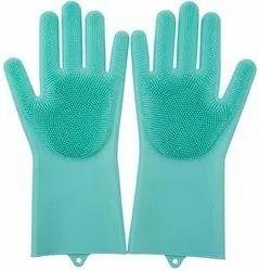 Unisex Rubber Silicone Kitchen Gloves