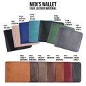 Faux Leather Men''s Wallet