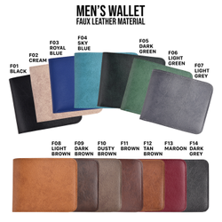 Faux Leather Men''s Wallet