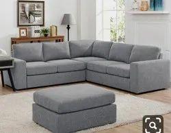 Soft Fibre Corner Sofa Set With Stool