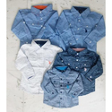 Cotton Regular Wear Fancy Kids Shirts