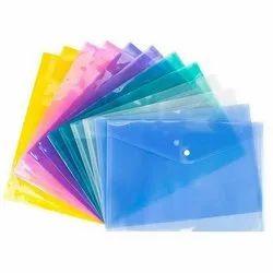 Plastic Press Button File Folder, For Office