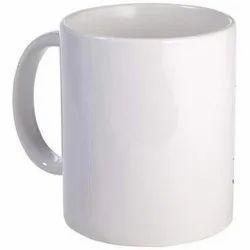 White Ceramic Coffee Mug, for Home,Office, 100-200 Ml