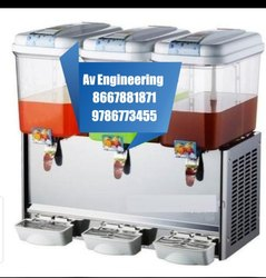 Three Tank Juice Dispenser Machine