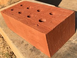 Rectangle Red Orange And Copper Red Wire Cut Exposed Bricks, For Partition Walls, Size: 9 x 4 x 3 inch
