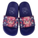 Blue Crya Floral Kids Slip On Slipper