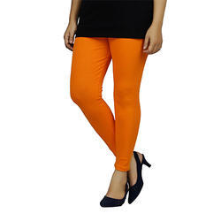 Ladies Orange Ankle Length Legging