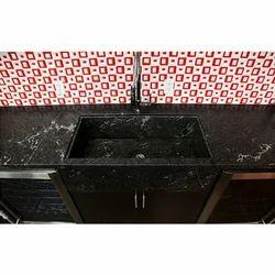Polished Single Granite Sink, 15-20 mm, Kitchen
