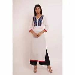 3/4th Sleeves Cotton Kurti with Palazzo