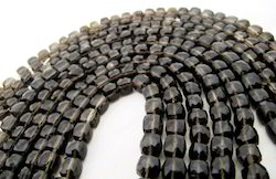 Smokey Quartz Box Beads