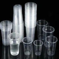 Generic Transparent Disposable Plastic Glass, Size: 200 Ml