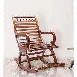 Teak Wood Weight: 10 Kg Wooden Rocking Chair, Warranty: 1 Year