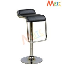 MBTC Kitchen Cafeteria Bar Stool Chair in Black